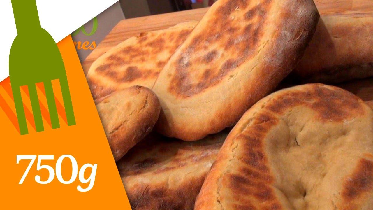 Recette de pain indien ou naan 750 grammes youtube - Decongeler au four traditionnel ...