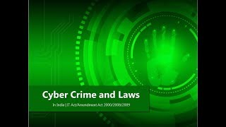 Cyber Crime and Laws In India |IT Act/Amendment Act 2000/2008| By Sachin Vardani| Hindi