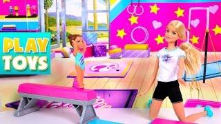 Barbie vs Elsa Sports Challenge Competition - Barbie girl dolls beat Frozen team - funny kids video