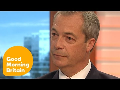 Nigel Farage Questioned About Why He Stepped Down As UKIP Leader   Good Morning Britain