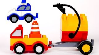 Learn Colors with Building Blocks Toy Vehicles for Kids and Children