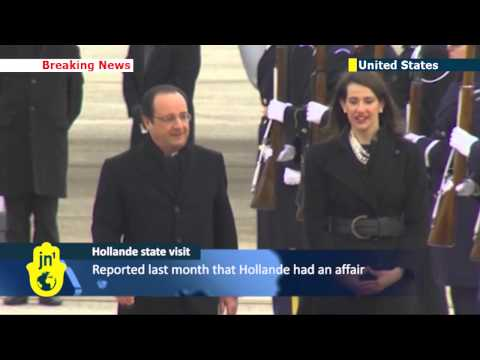 French President Flying Solo: Hollande arrives in the US for state visit without former First Lady