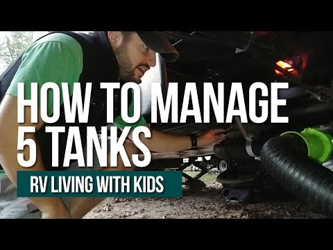 HOW TO FLUSH MULTIPLE RV BLACK AND GREY TANKS // 5 Holding Tanks // RV Living With Kids