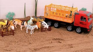Animal Truck Toy |Animal planet Zoo Transport | Videos for kids | Animals going crazy at zoo | Toys
