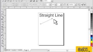 CorelDraw Sinhala Tutorial 01 - Drawing Straght lines