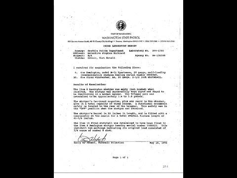Kurt Cobain police report evidence discrepancies revealed