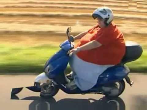 250 Kilo auf nem Roller Extrem - YouTube
