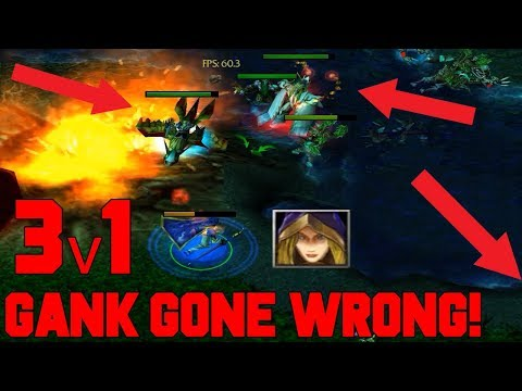 DOTA CRYSTAL MAIDEN - MID GANK GONE WRONG (TRIPLE KILL)