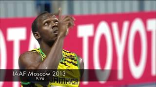"""ウサインボルトの衝撃的なレース7選100m編 Usain bolt Sprinting Montage """"come back"""" by solt'N"""