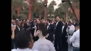 شاهد .. عمرو يوسف وكندة علوش يرقصان في حفل زفافهما