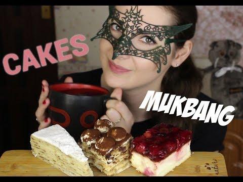 МУКБАНГ Чизкейк, Тирамису и блинный торт/MUKBANG Cheesecake, tiramisu and crepe cake