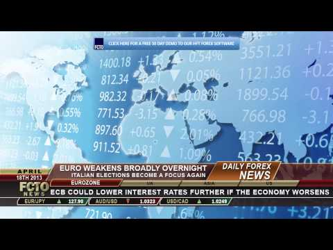 Daily Forex News April 18th 2013: Euro Weakens Overnight, Italian Elections Become Focus Again