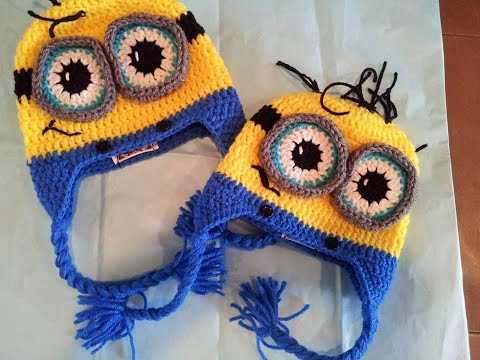 Tutorial How to crochet 9-12 month old Minion Beanie. By Sabrina