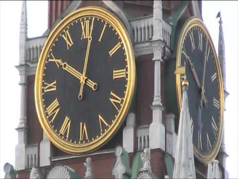 Красная площадь.Спасская башня.Часы. Время.Найдена