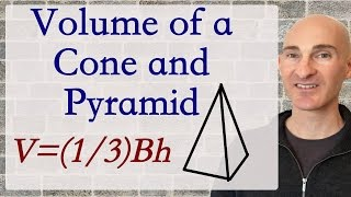 Volume of a Cone and Pyramid - How to Find (Formula)