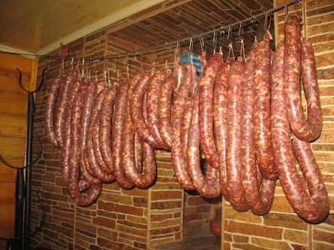 Колбаски охотничьи в домашних условиях