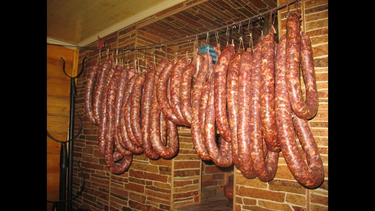 Как сделать охотничье колбасу