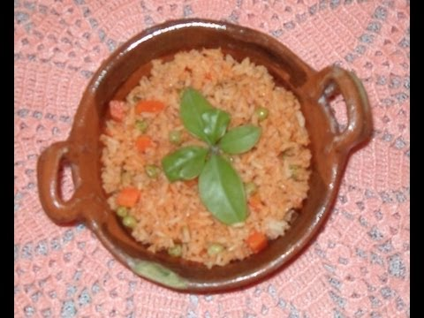 RECETA DE ARROZ ROJO MEXICANO - Mexican red rice