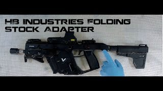 Kriss Vector Folding Stock Adapter, HB Industries, A+! on the Gen 2 SDP in 45!