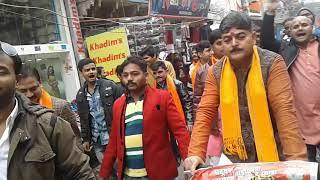 आज इलाहाबाद में प्रदूषण नियंत्रण जन जागरण साइकिल यात्रा हिंदू युवा वाहिनी के तरफ से निकाली गई