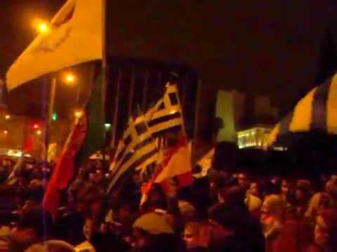 ATHENS, GREECE; FEB 11, 2015: Protest against austerity