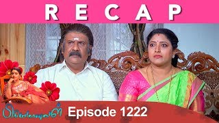 RECAP : Priyamanaval Episode 1222, 21/01/19
