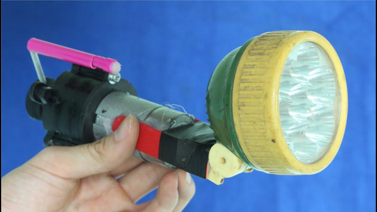 Как сделать из фонарика