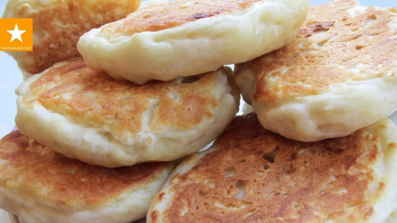 Как сделать оладьи на кефире с яйцами 12