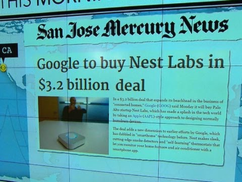Headlines at 8:30: Google to buy Nest Labs, maker of smart-home technology