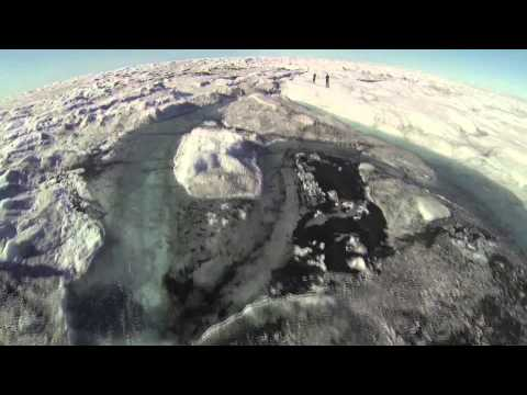 Dark Snow Drone Copter - raw video
