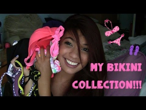 My Bikini Collection!! Hollister, Victoria Secret, Target & Hot Topic!! (Meghanrosette inspired)