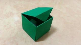 104 Origami 종이접기 한장으로 만드는(사각 상자) box 쉬운 색종이접기 Easy  摺紙 折纸 оригами 折り紙  اوريغامي