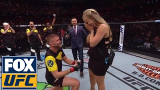 Alexander Gustafsson proposes to girlfriend after his KO win over Glover Teixeira | UFC FIGHT NIGHT