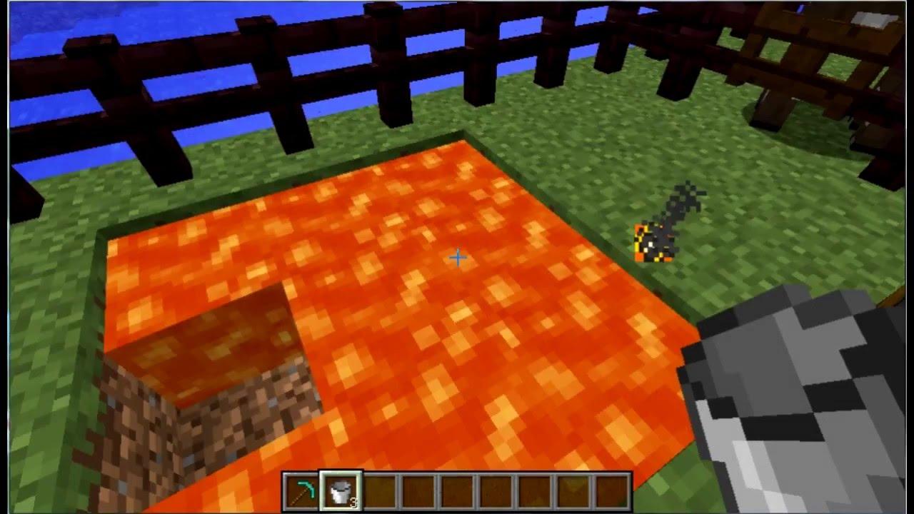 Как Набрать в Ведро Лаву в Minecraft - YouTube