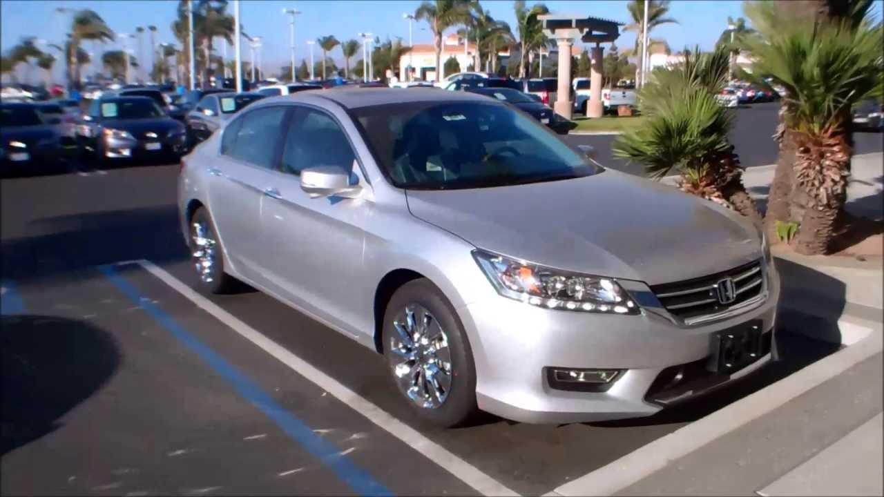 Honda Accord Ex-L >> 2013 Honda Accord EX-L V6 touring Accord in alabaster silver - YouTube