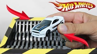 Experiment Shredding Hot Wheels Ford Mustang Lego And Toys | The Crusher