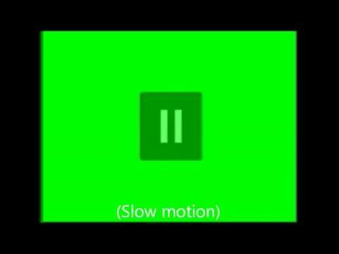 Youtube Play-and Pause Button Green Screen