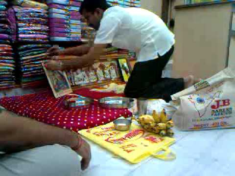Tawao purohit mukesh dewoni .dipawli pooja live j.b.sarees trichy