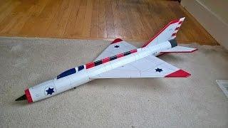 RC Mig 21 Rocket glider flights