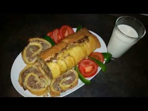 Сырно - мясной рулет с манкой( абсолютно без муки)