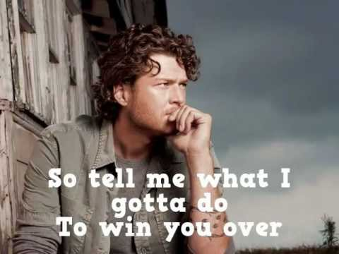 Blake Shelton Over Lyrics On Screen HQ