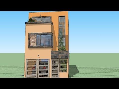 Casa moderna 6m x 12 50m videolike for Casa moderna minimalista 6 00 m x 12 50 m 220 m2