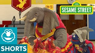 Sesame Street: Chicken Cheerleaders Balance | Super Grover 2.0