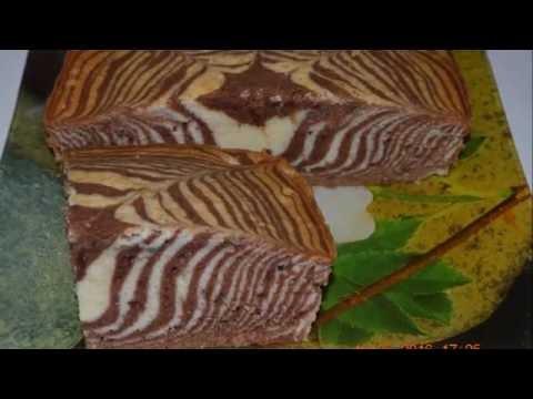 Бисквит зебра на сметане