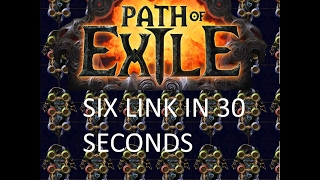 How To Six Link A POE Item In 30 Seconds