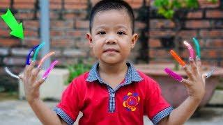 Trò Chơi Vẽ Móng Tay - Bé Nhím TV - Đồ Chơi Trẻ Em Thiếu Nhi