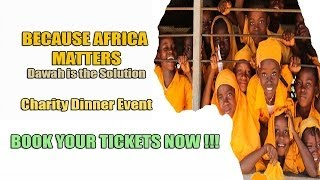 BECAUSE AFRICA MATTERS – Convivencia Charity Dinner – BOOK YOUR TICKETS NOW !!!
