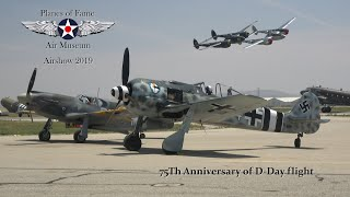 Planes of Fame 2019 '75th Aniversary D-Day flight'