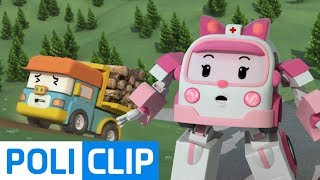 Dumpoo is going to slip on it! | Robocar Poli Rescue Clips