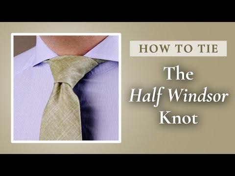 How to tie a half windsor knot gentlemans gazette ccuart Gallery